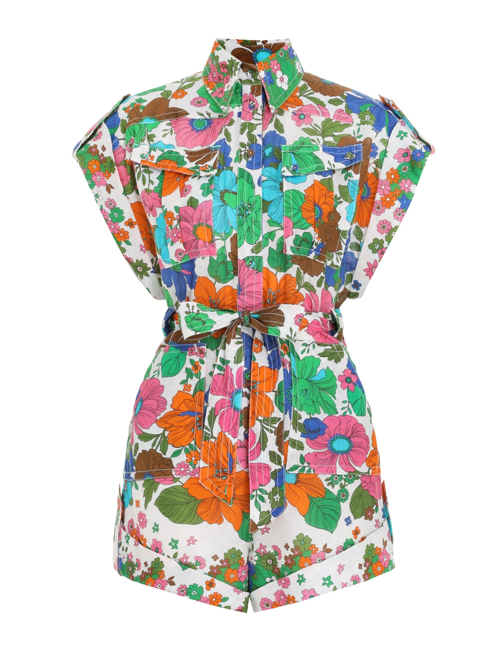 Riders Cuffed Playsuit