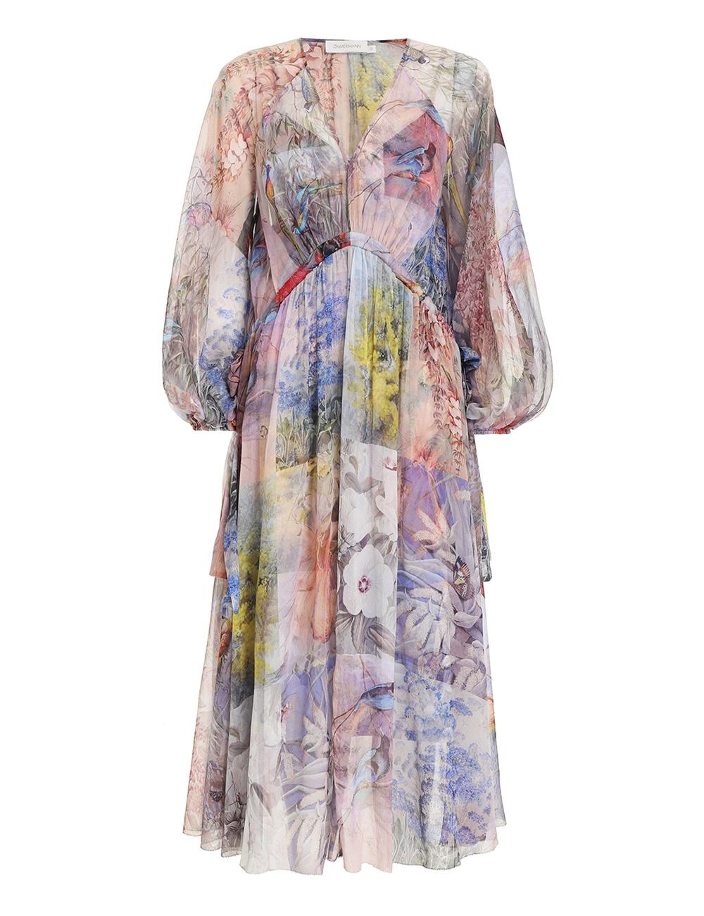 Luminous Tie Side Midi Dress