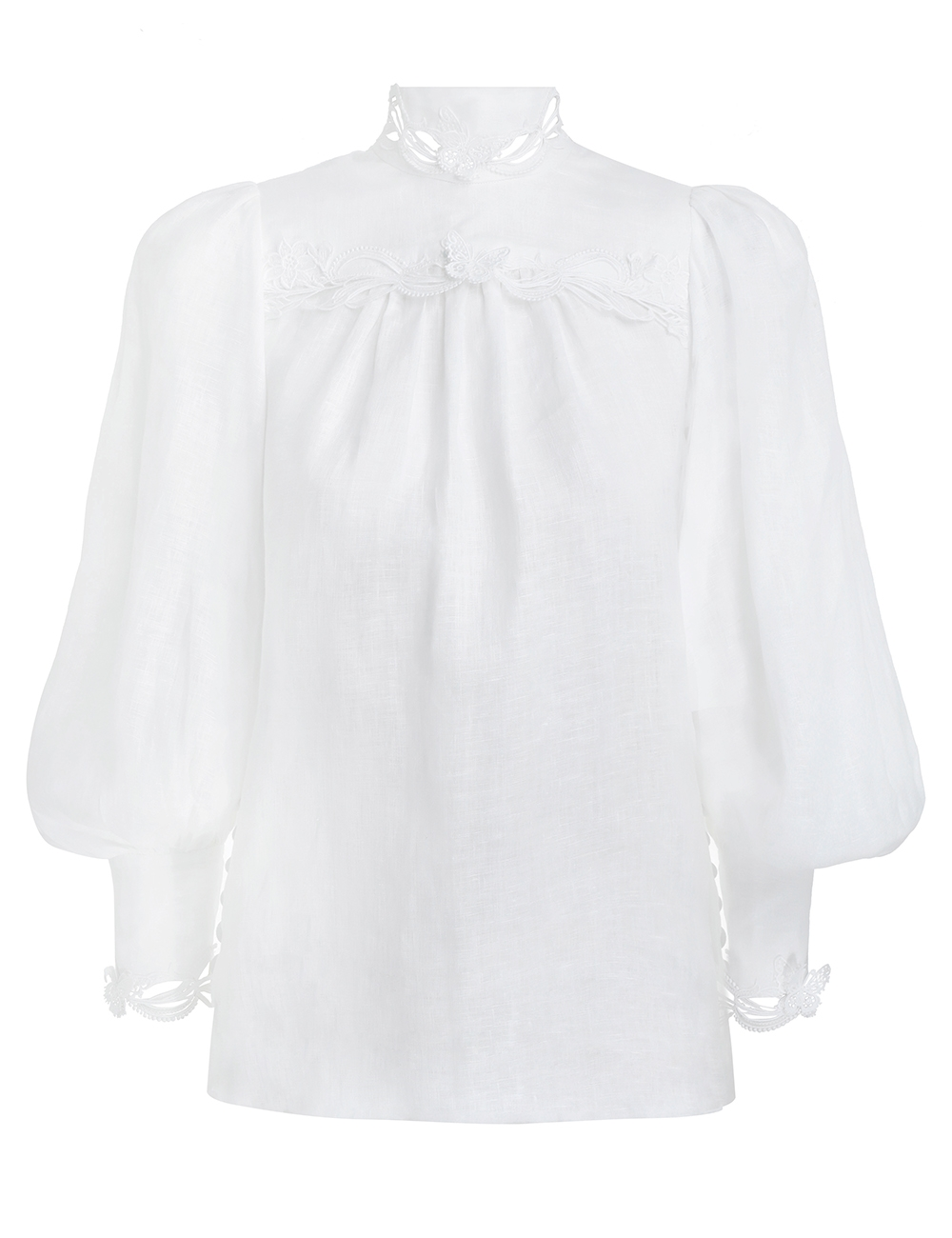 Luminous Buttoned Smock Blouse