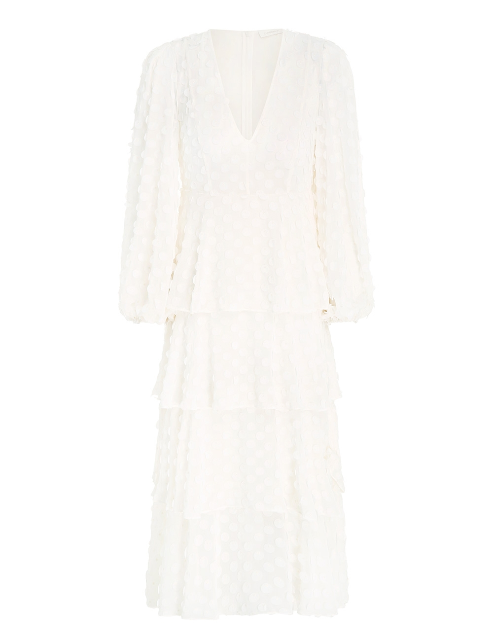 Textured Dot Midi Dress