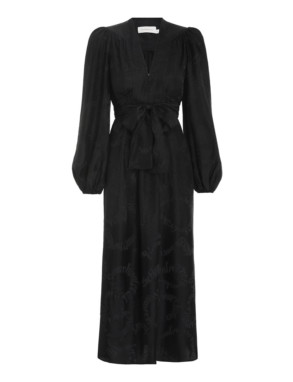 Botanica Jacquard Midi Dress