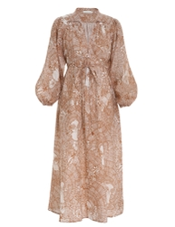 Tropicana Wrap Tie Midi Dress