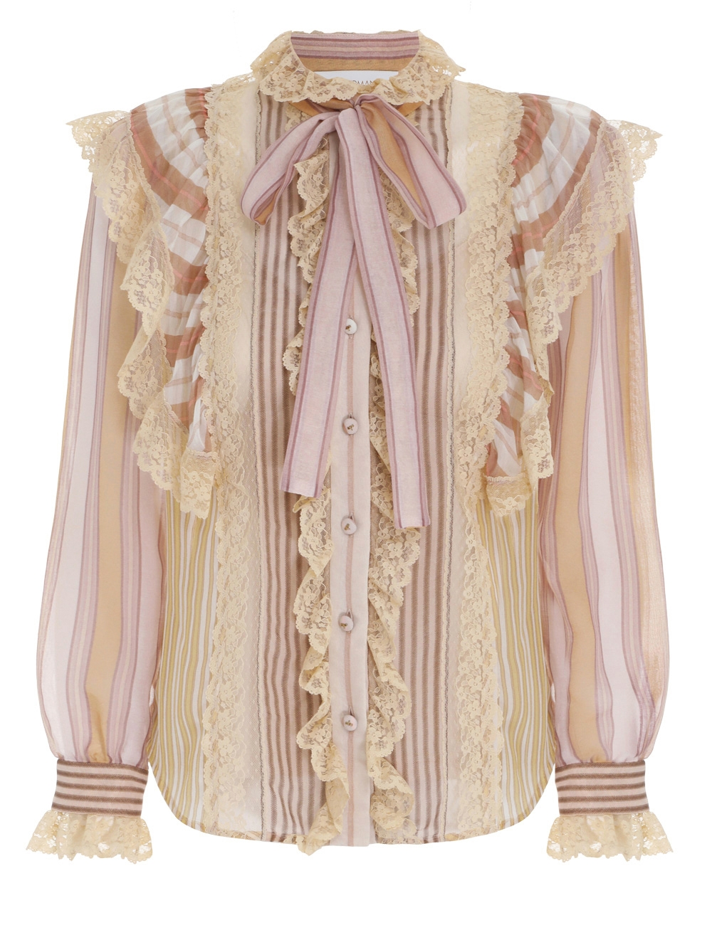 Candescent Striped Lace Blouse
