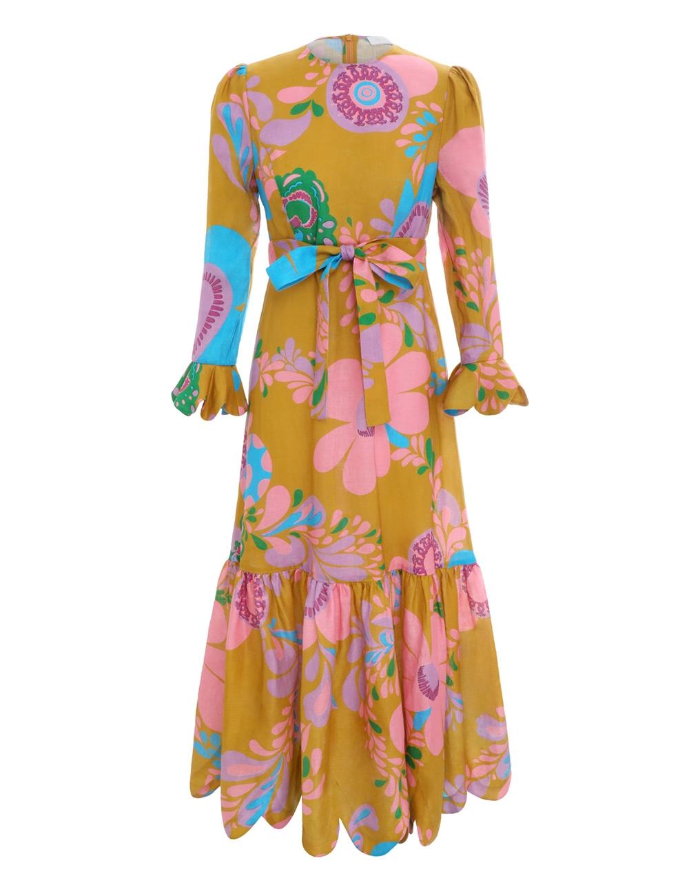 Teddy Frill Hem Dress