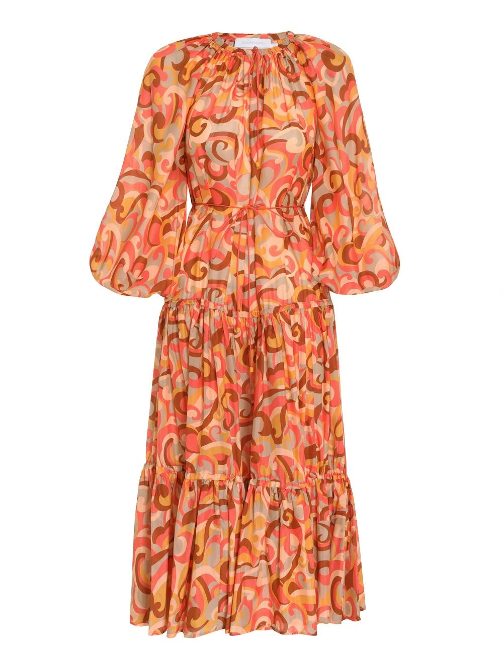 Mae Tiered Midi Dress