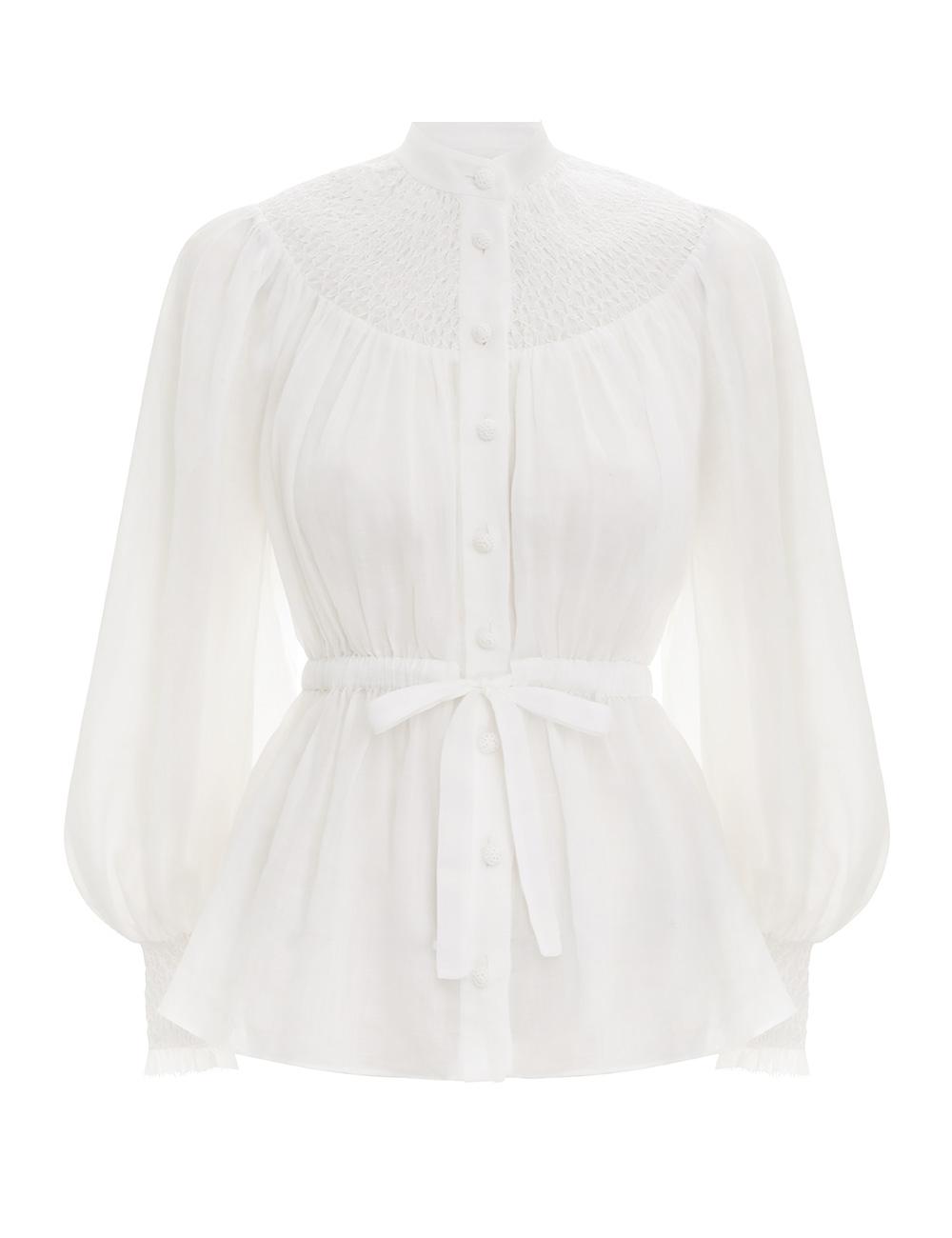 Nina Smocked Shirt