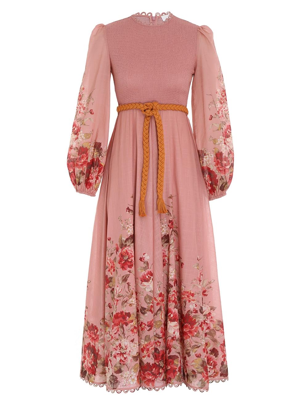 Cassia Shirred Midi Dress
