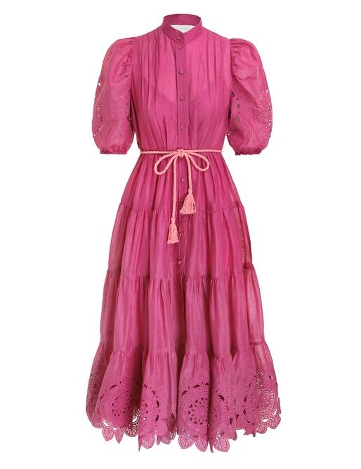 Teddy Scallop Frill Mid Dress
