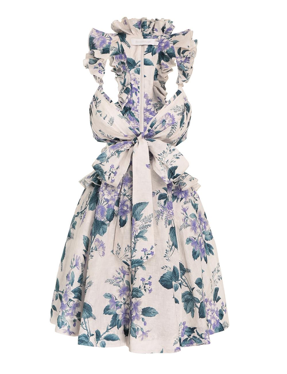 Cassia Ruffle Mini Dress