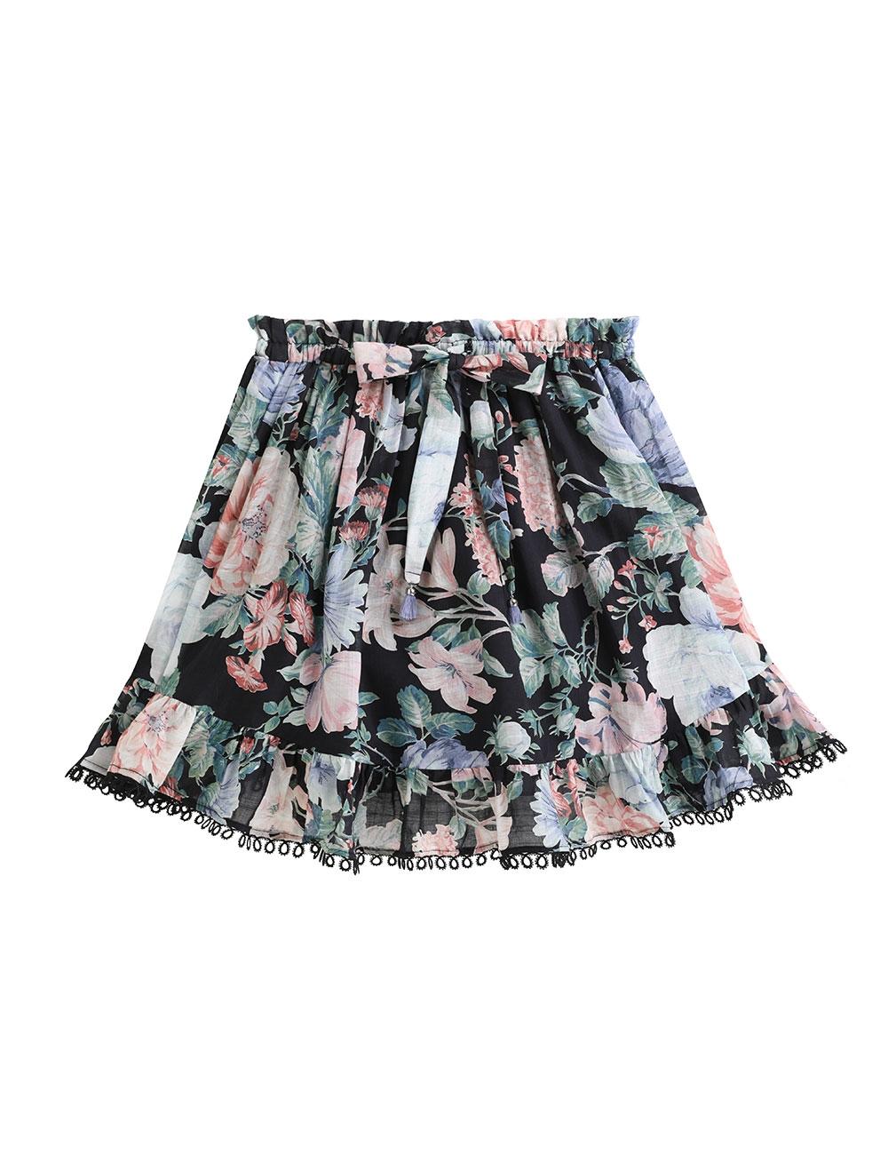 Verity Floral Flounce Skirt