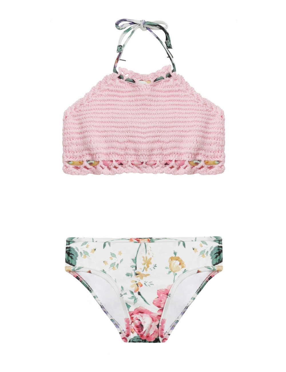 Allia Crochet Halter Bikini
