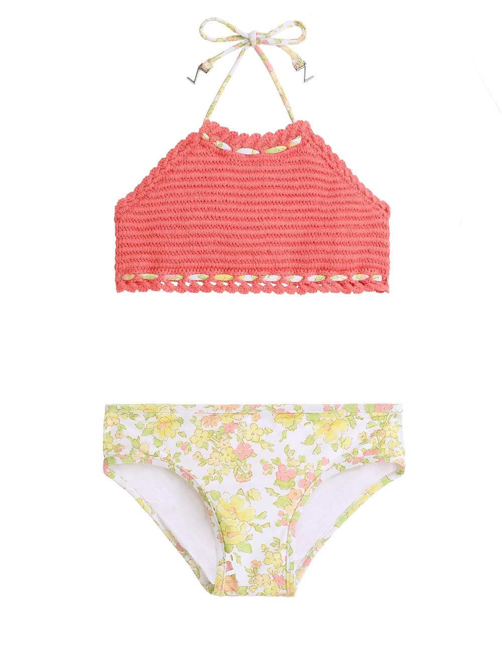 Goldie Crochet Halter Bikini