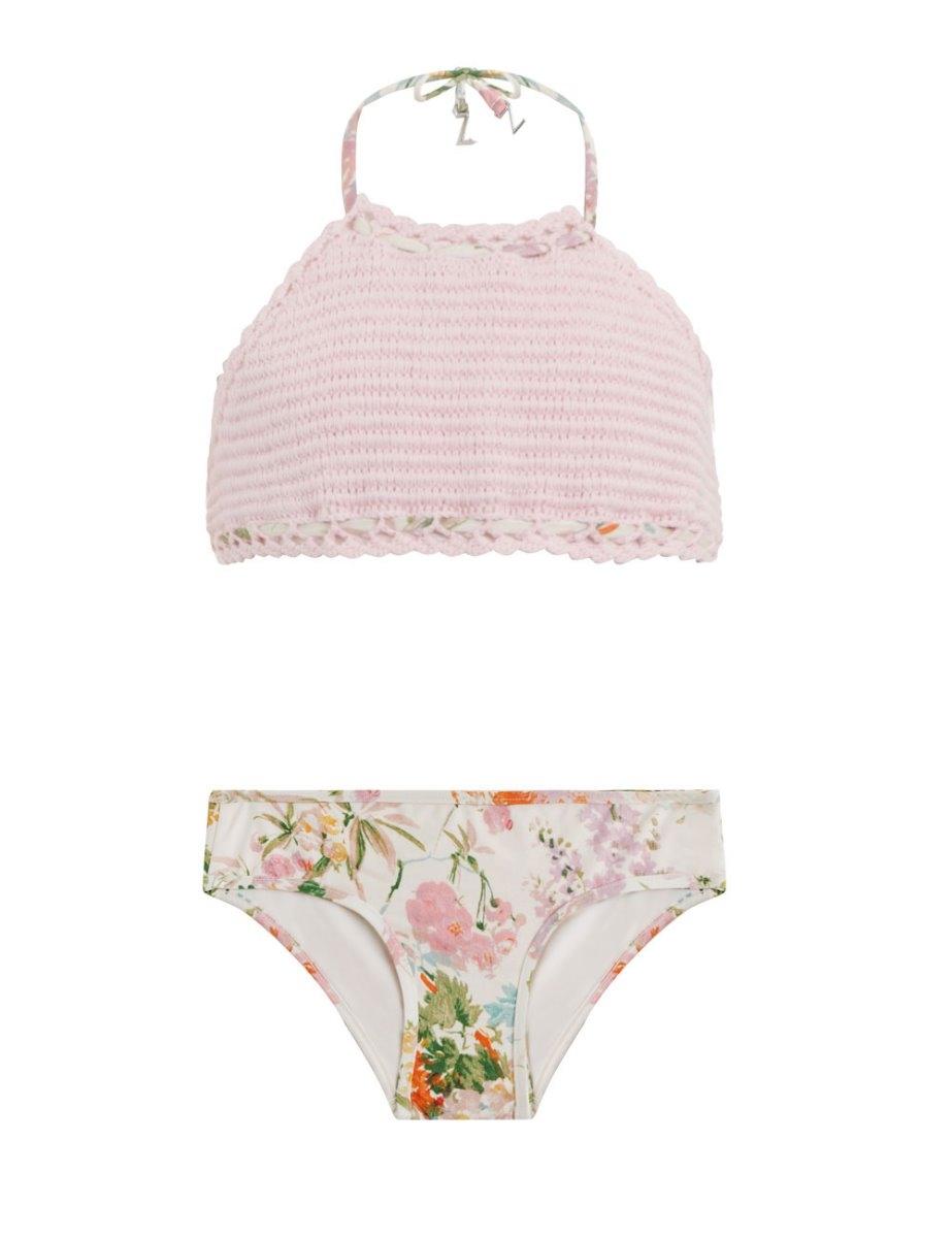 Heathers Crochet Halter Bikini