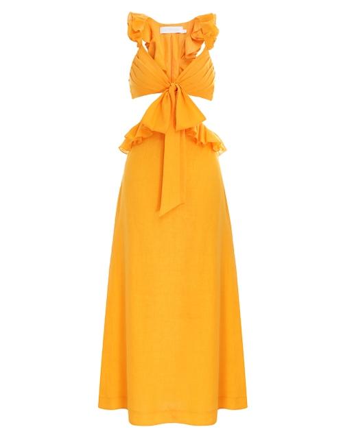 Aliane Ruffle Midi Dress