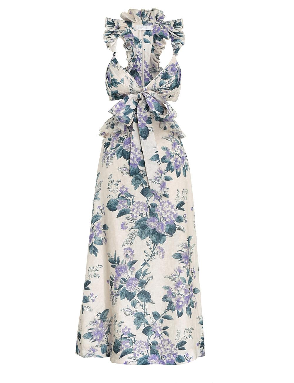 Cassia Ruffle Midi Dress