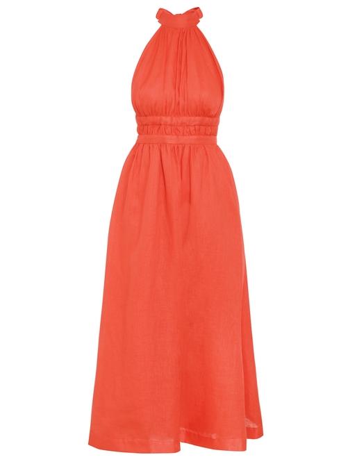 Shelly Halter Bow Midi Dress