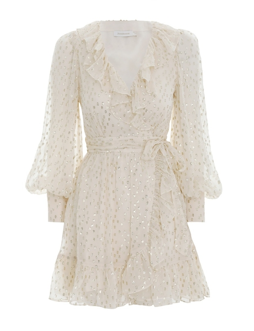 Lurex Wrap Mini Dress