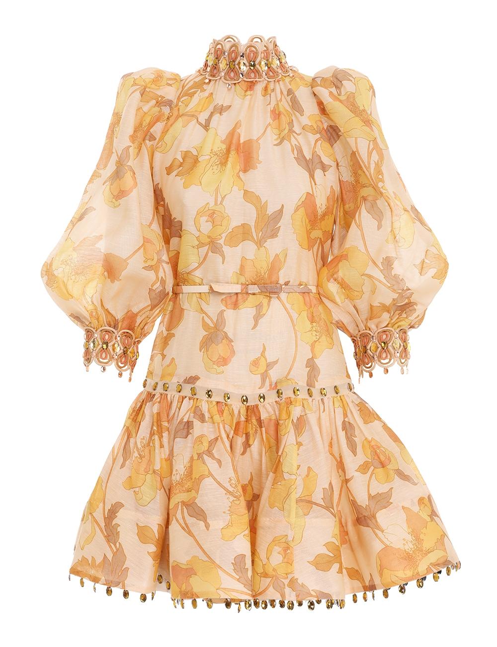 Tempo Rouleau Trim Mini Dress