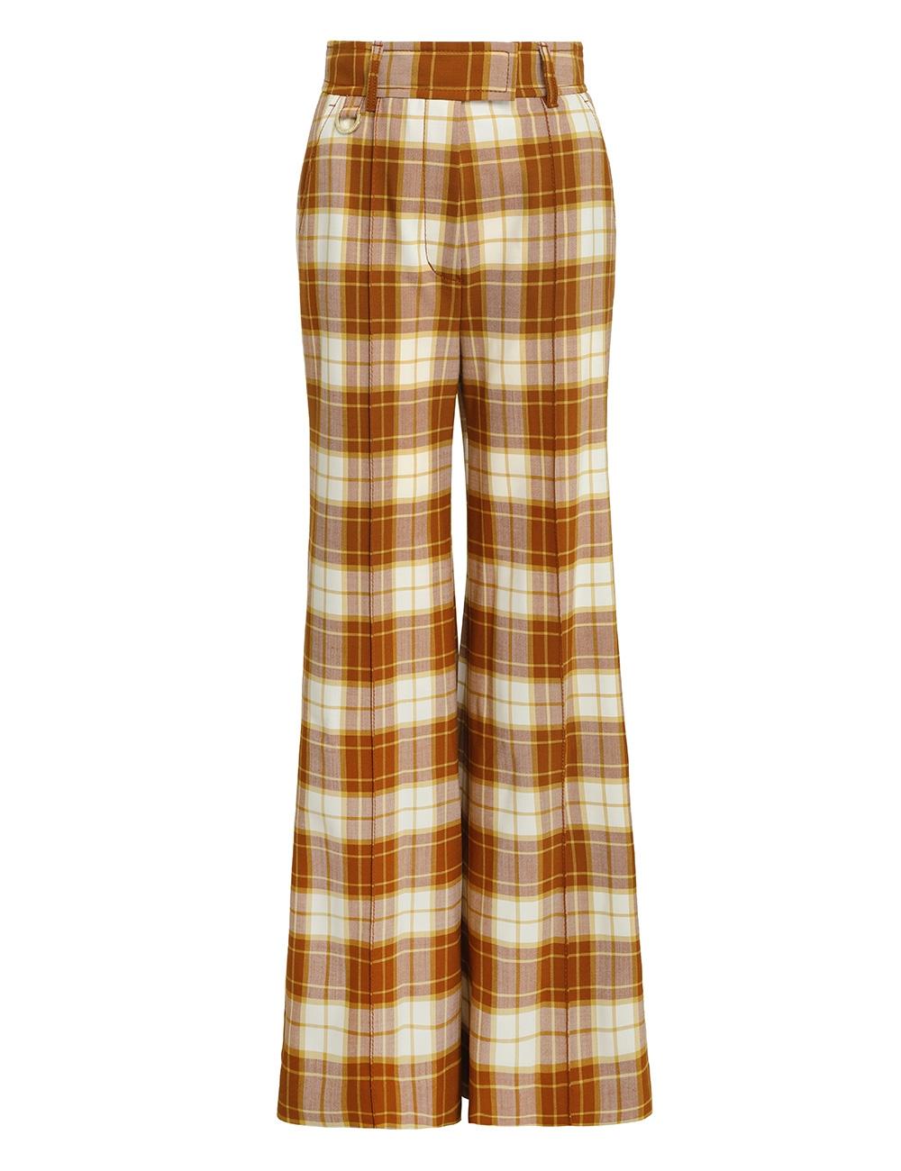 Tempo Check Wide Leg Trouser