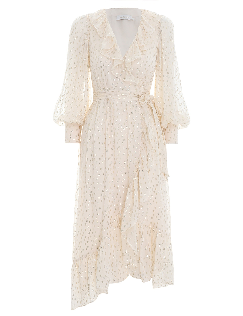 Lurex Wrap Midi Dress