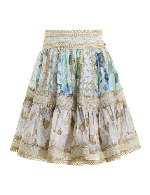 Rhythm Trimmed Mini Skirt