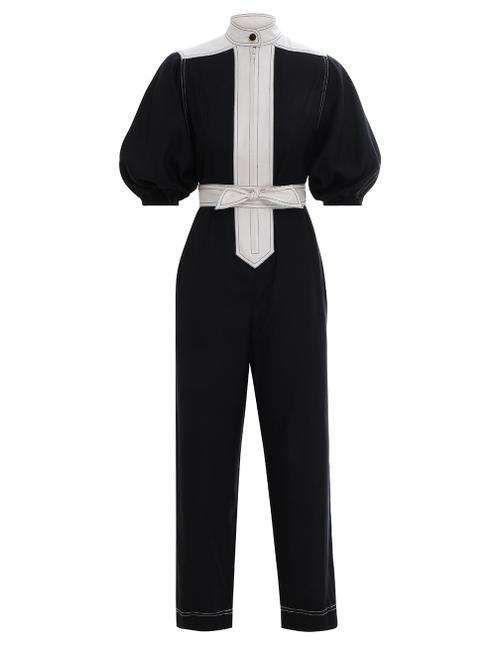 Silk Tie Jumpsuit