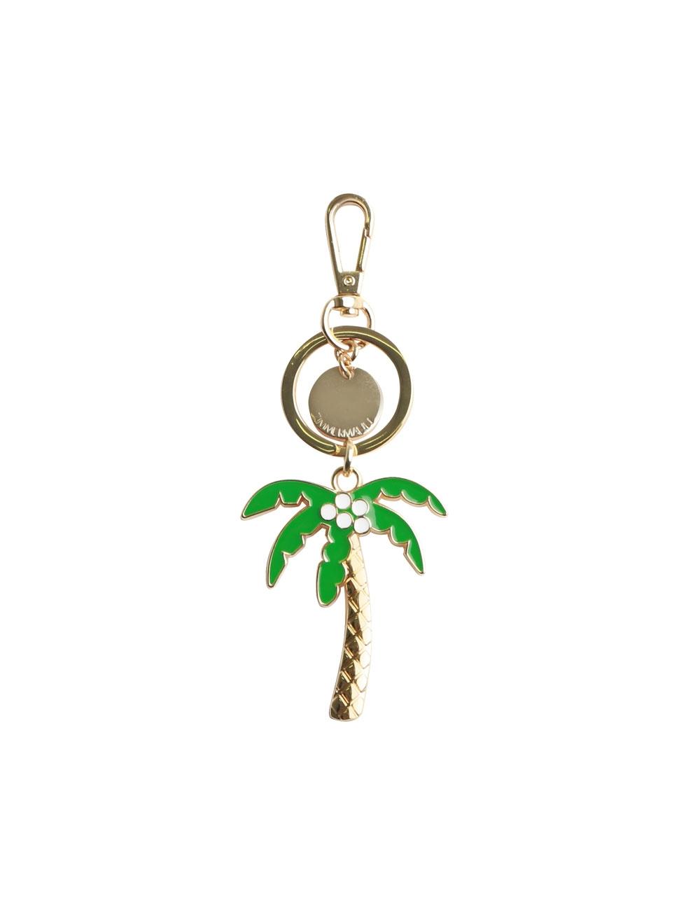 Palm Tree Enamel Keyring