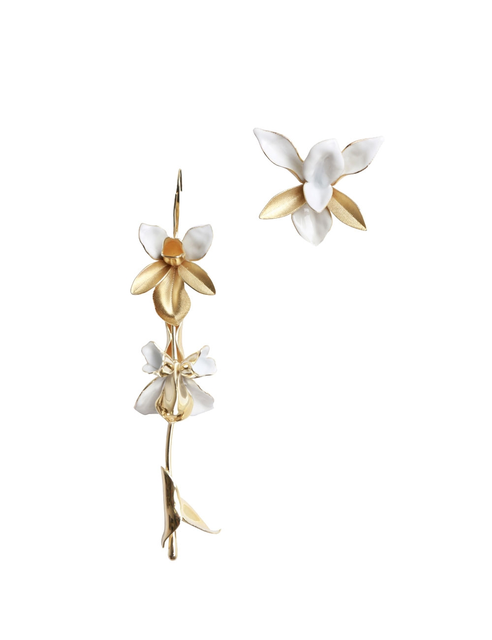 Tri Orchid Statement Earring