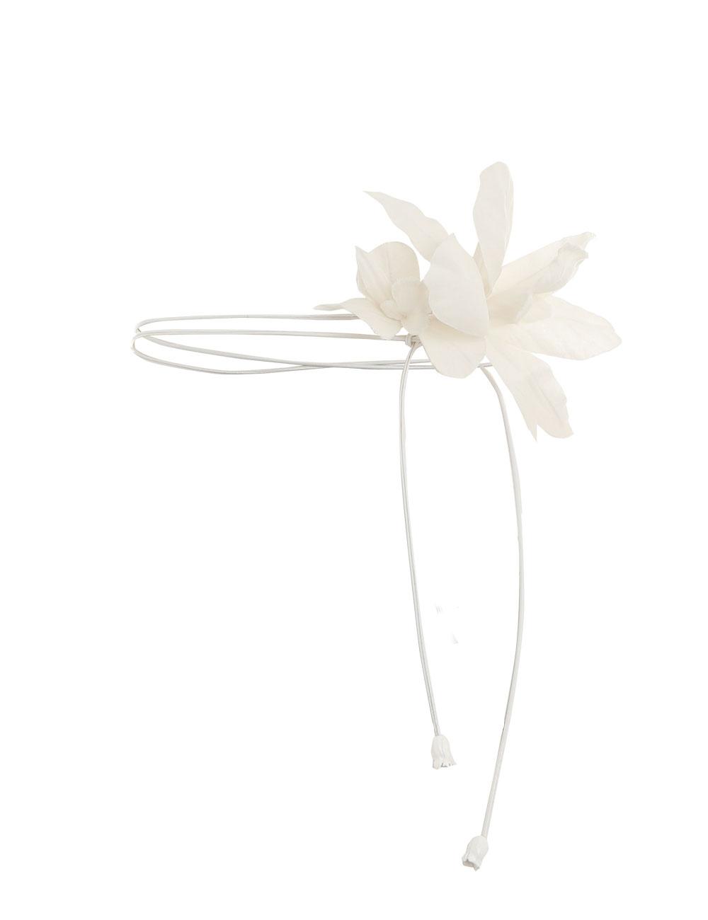 Corsage Orchid Tie Belt