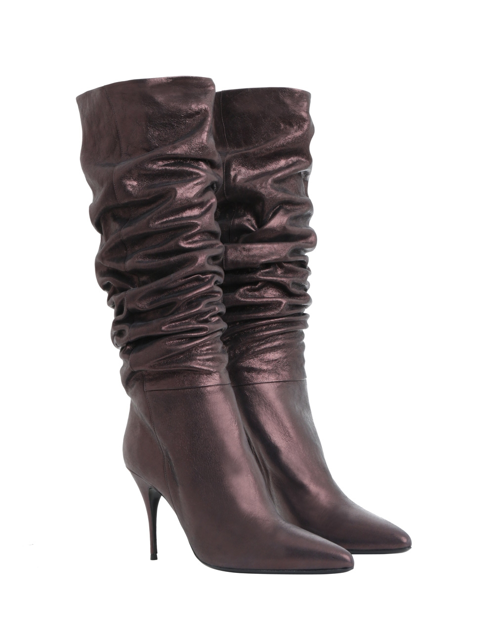 Tall Metallic Boot