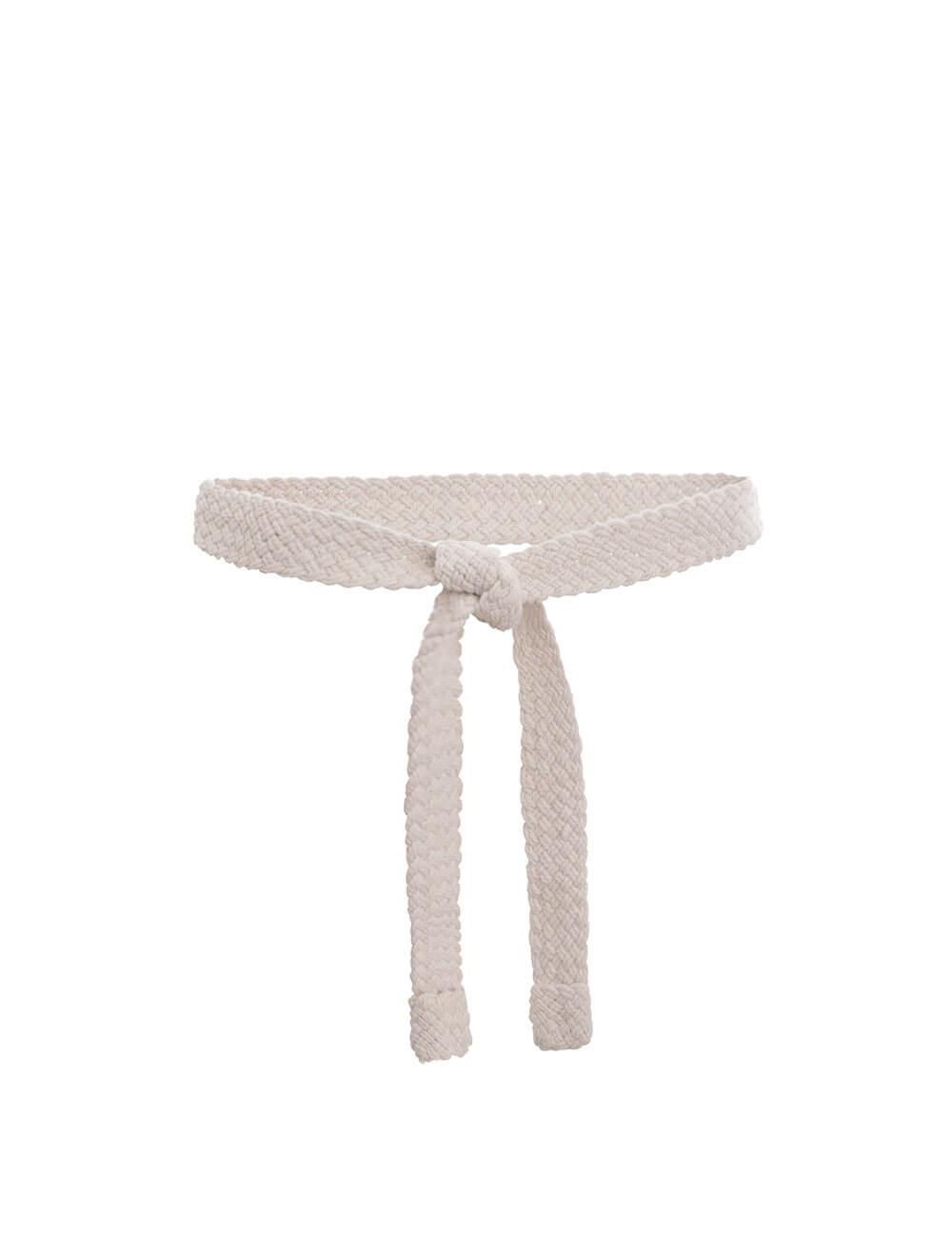 Woven Cord Tie Long Belt