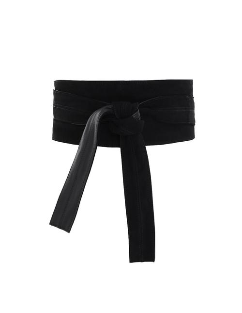 Wide Waist Tie Belt