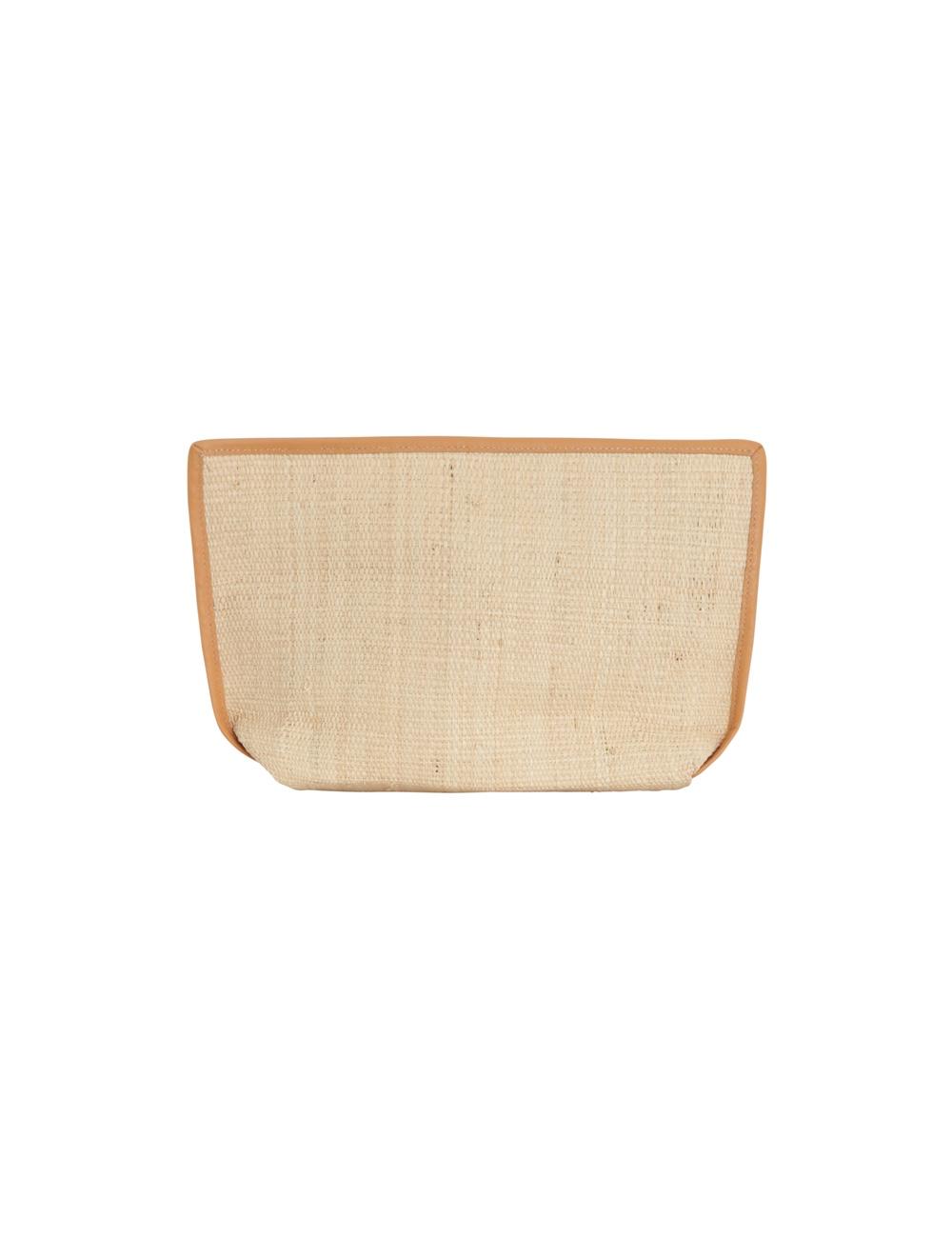 Raffia Stripe Clutch