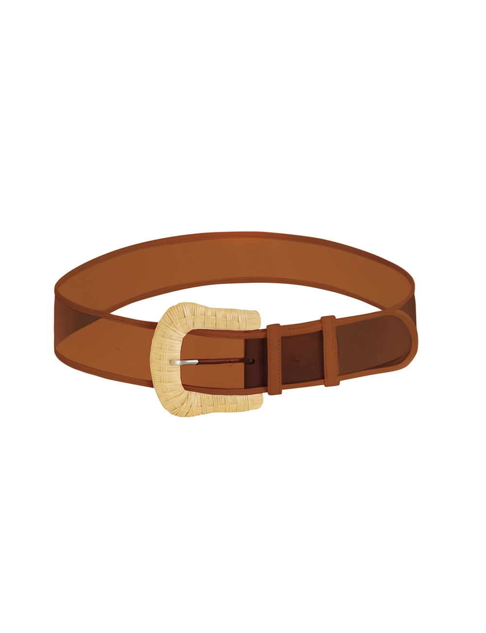 Wicker Buckle Wide Belt