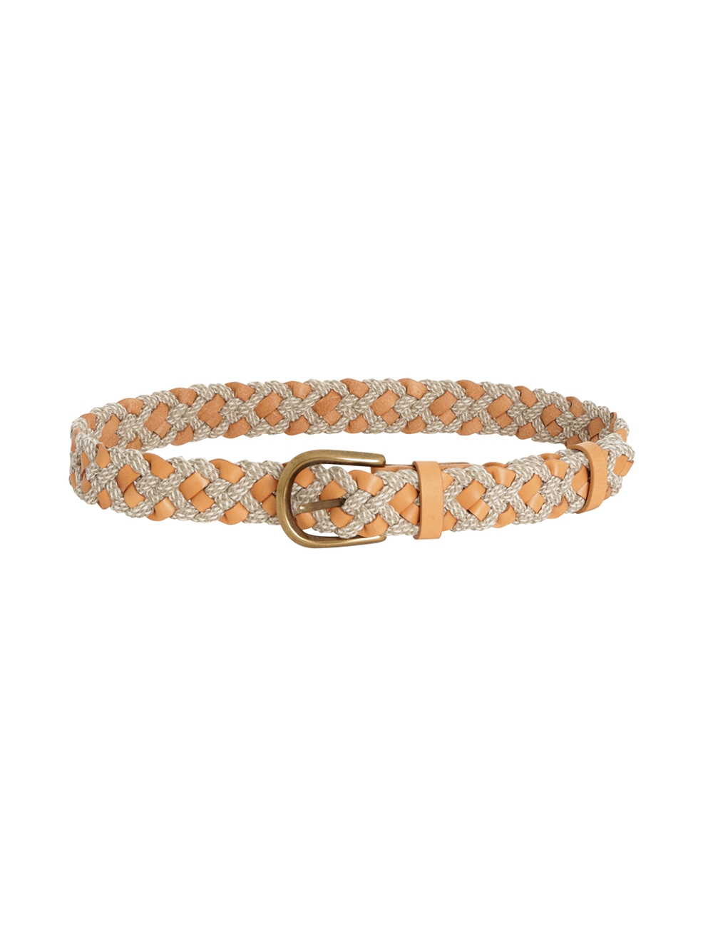 Leather & Cord Woven Belt