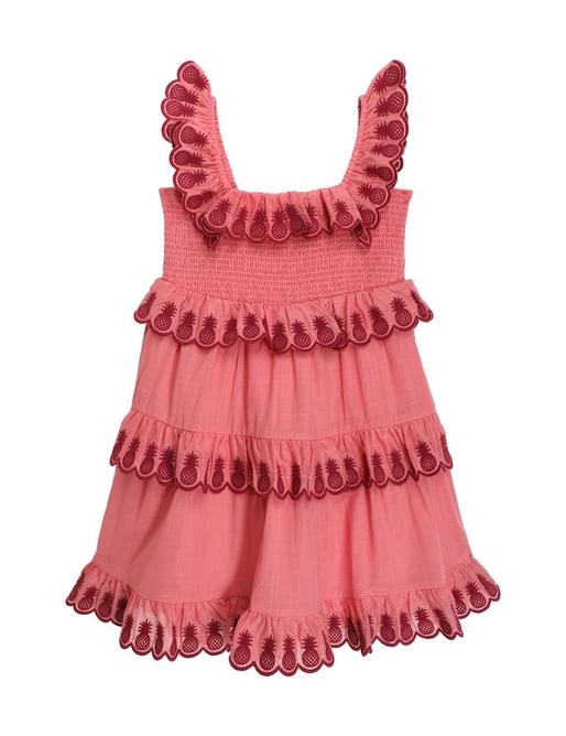 Tropicana Scallop Tiered Dress
