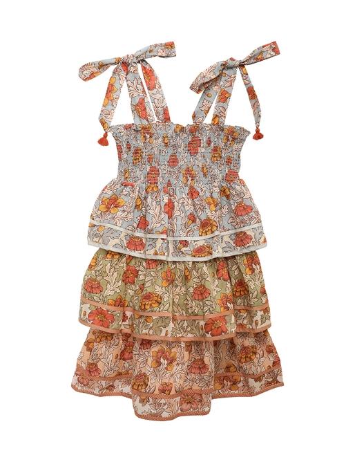 Andie Shirred Tiered Dress