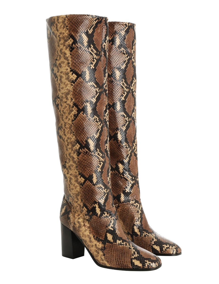 Pull On Slouch Boot Natural Snake