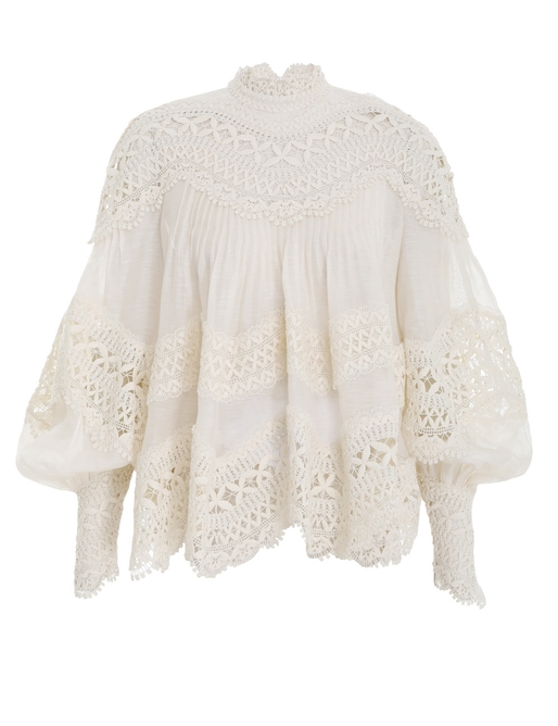 Postcard Embroidered Blouse