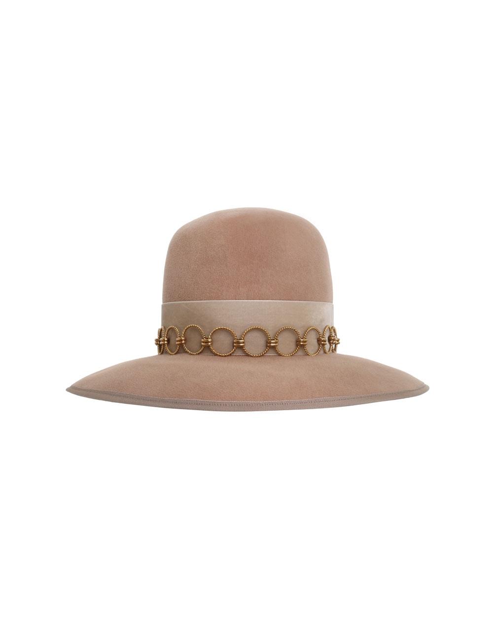 Round Crown Felted Hat