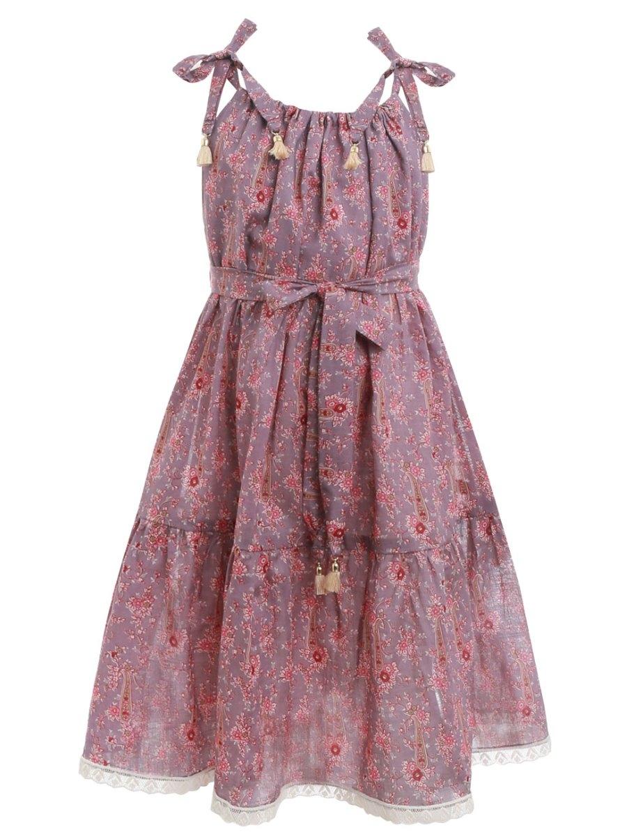 Juniper Paisley Tie Dress