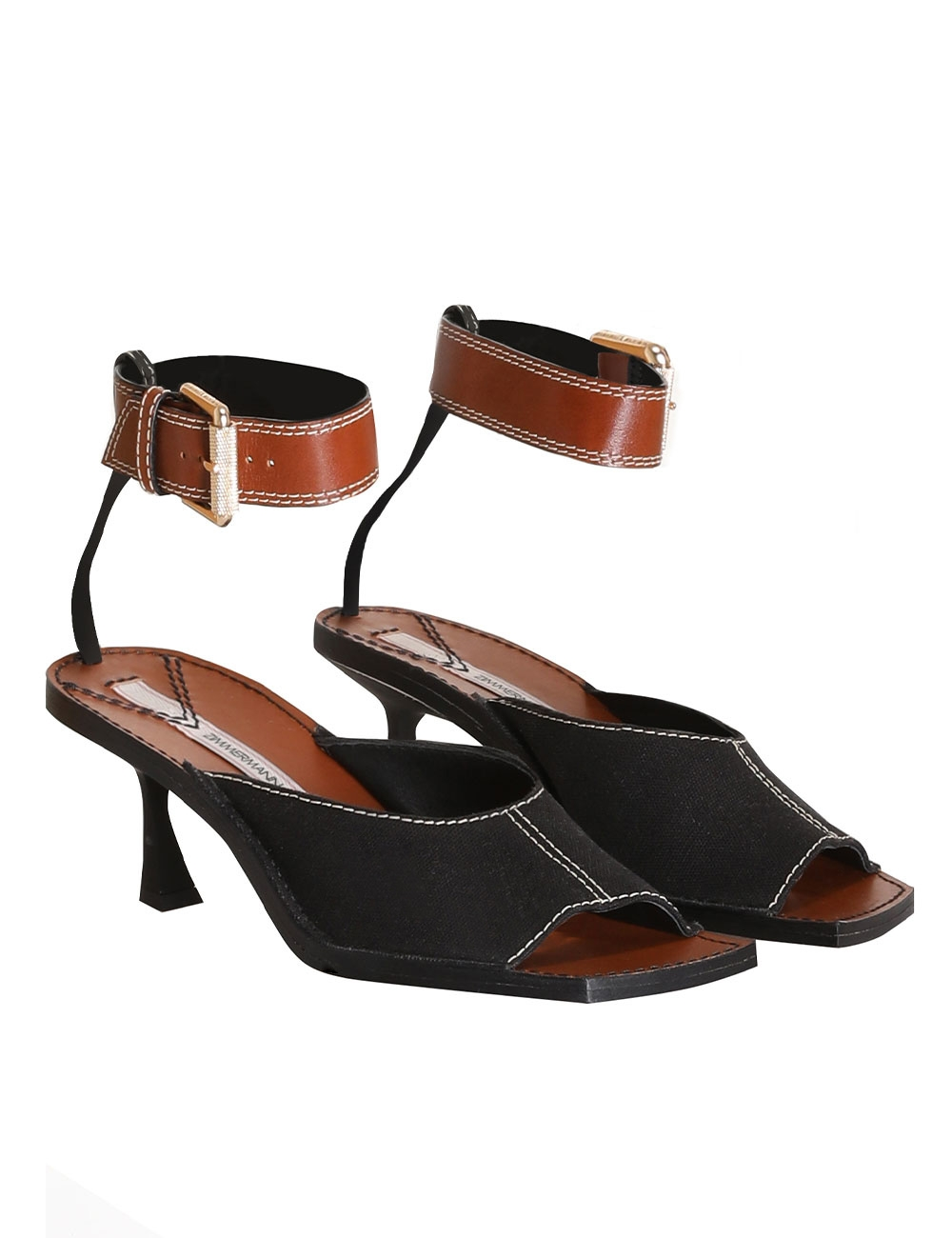 Square Toe Heeled Mule