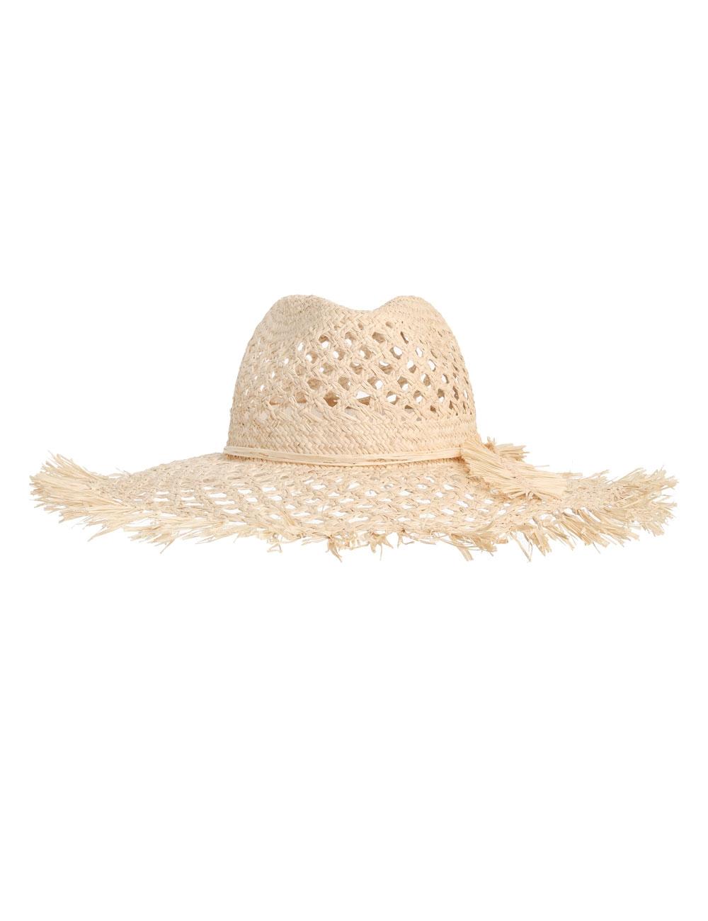 Woven Wide Brim Hat