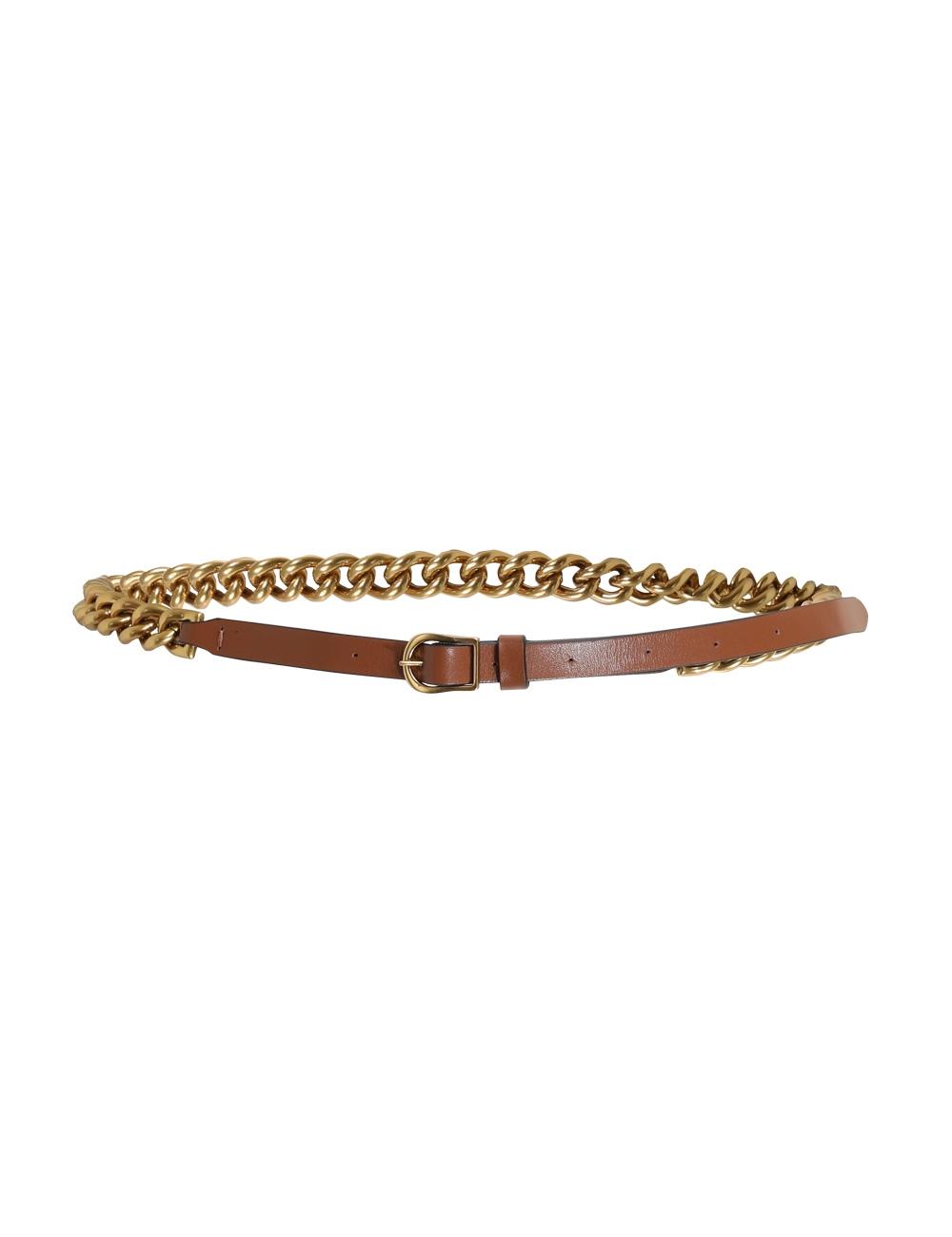 Chain Leather Belt