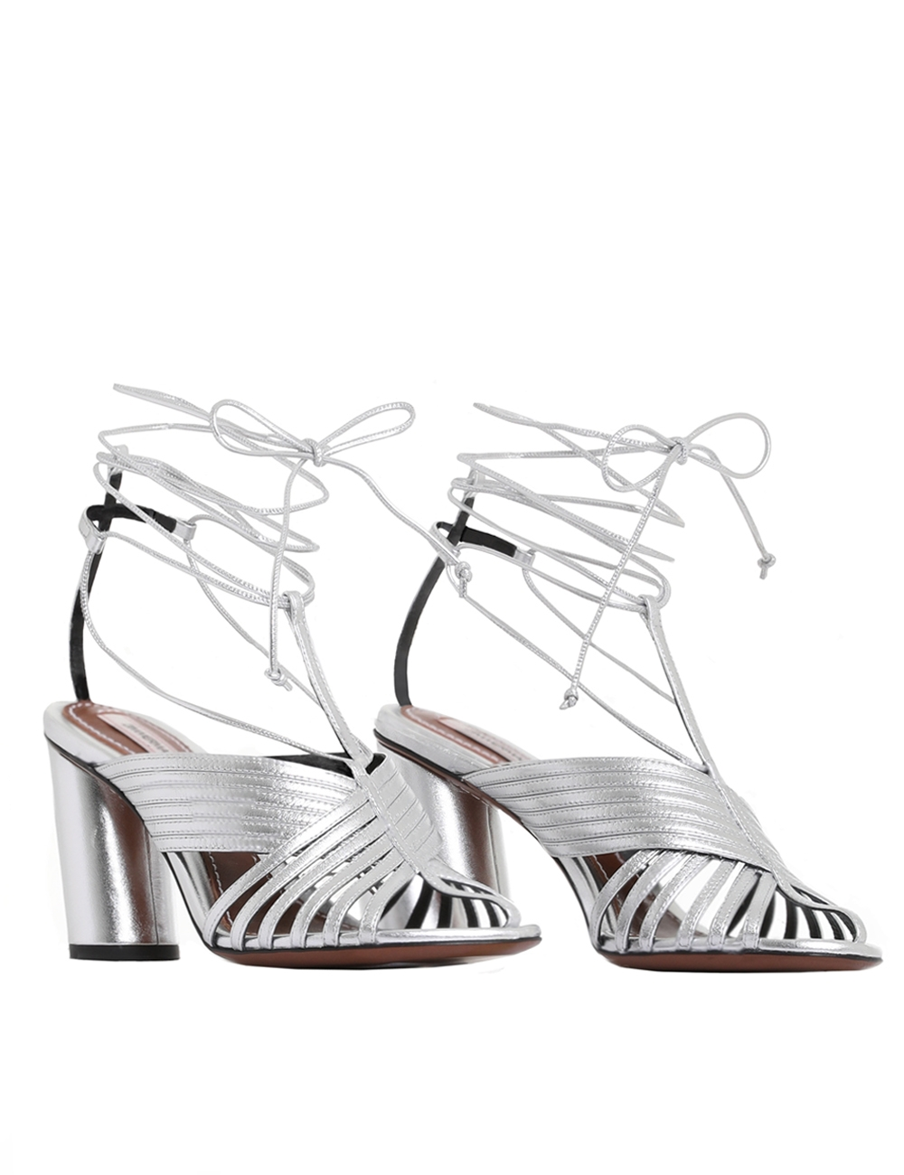 Strappy Angled Heel Sandal