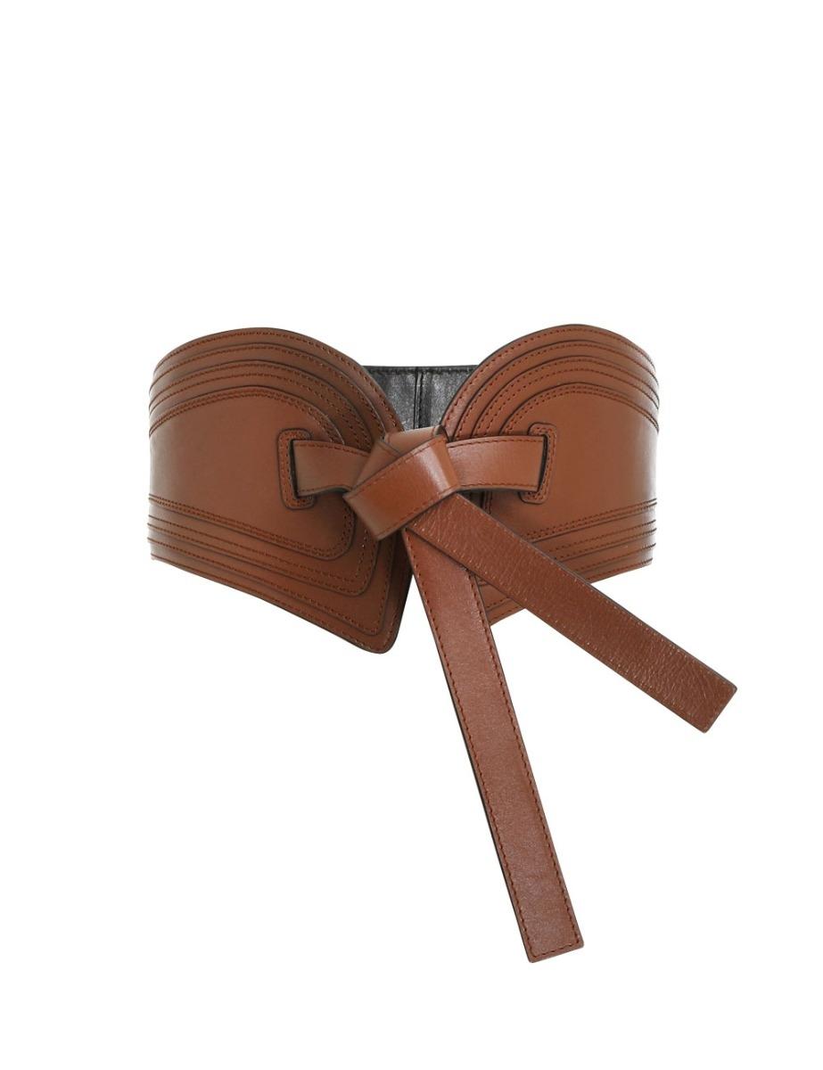 Topstitch Wide Waist Belt