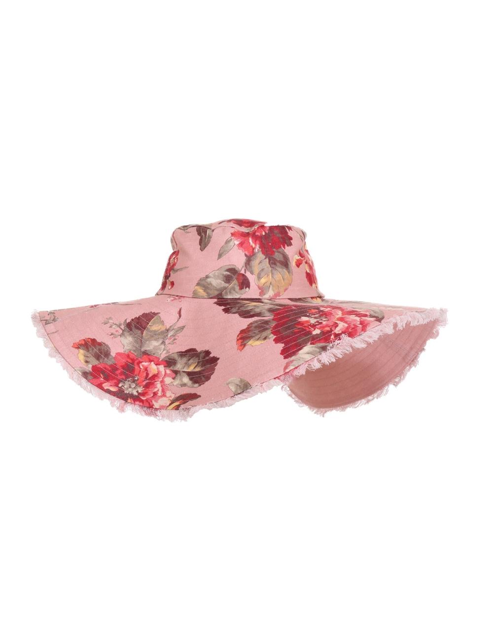 Reversible Frayed Floppy Hat