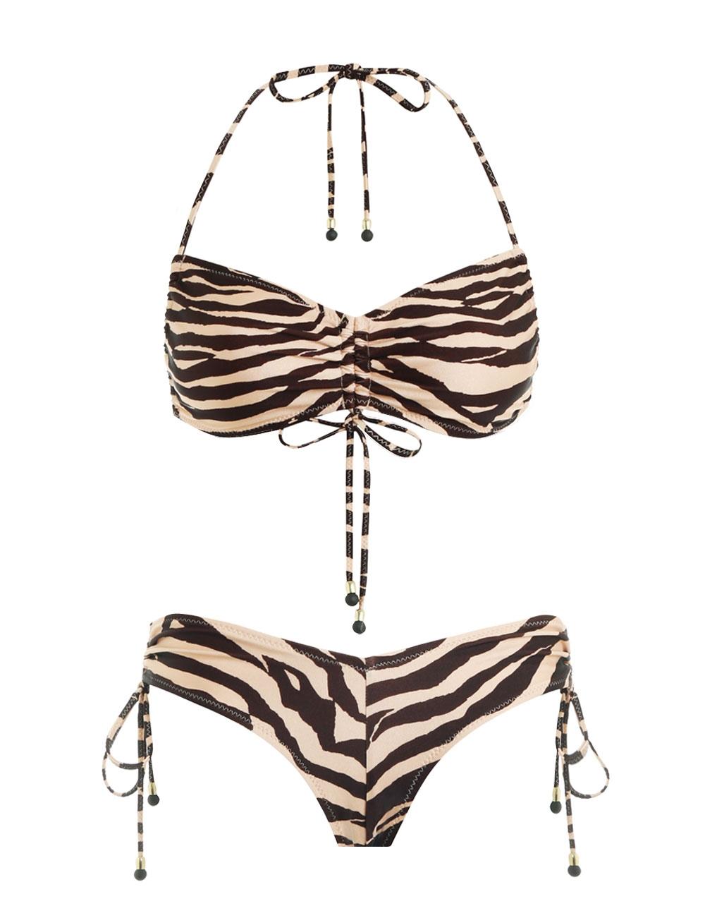 Juniper Ruched Tie Bikini