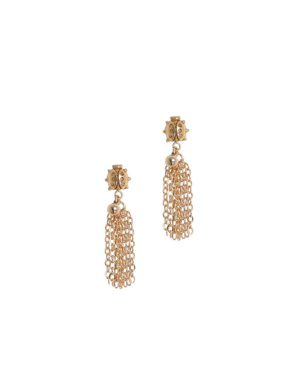 Ladybeetle Tassel Earrings