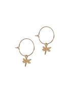 Small Dragonfly Hoop Earrings